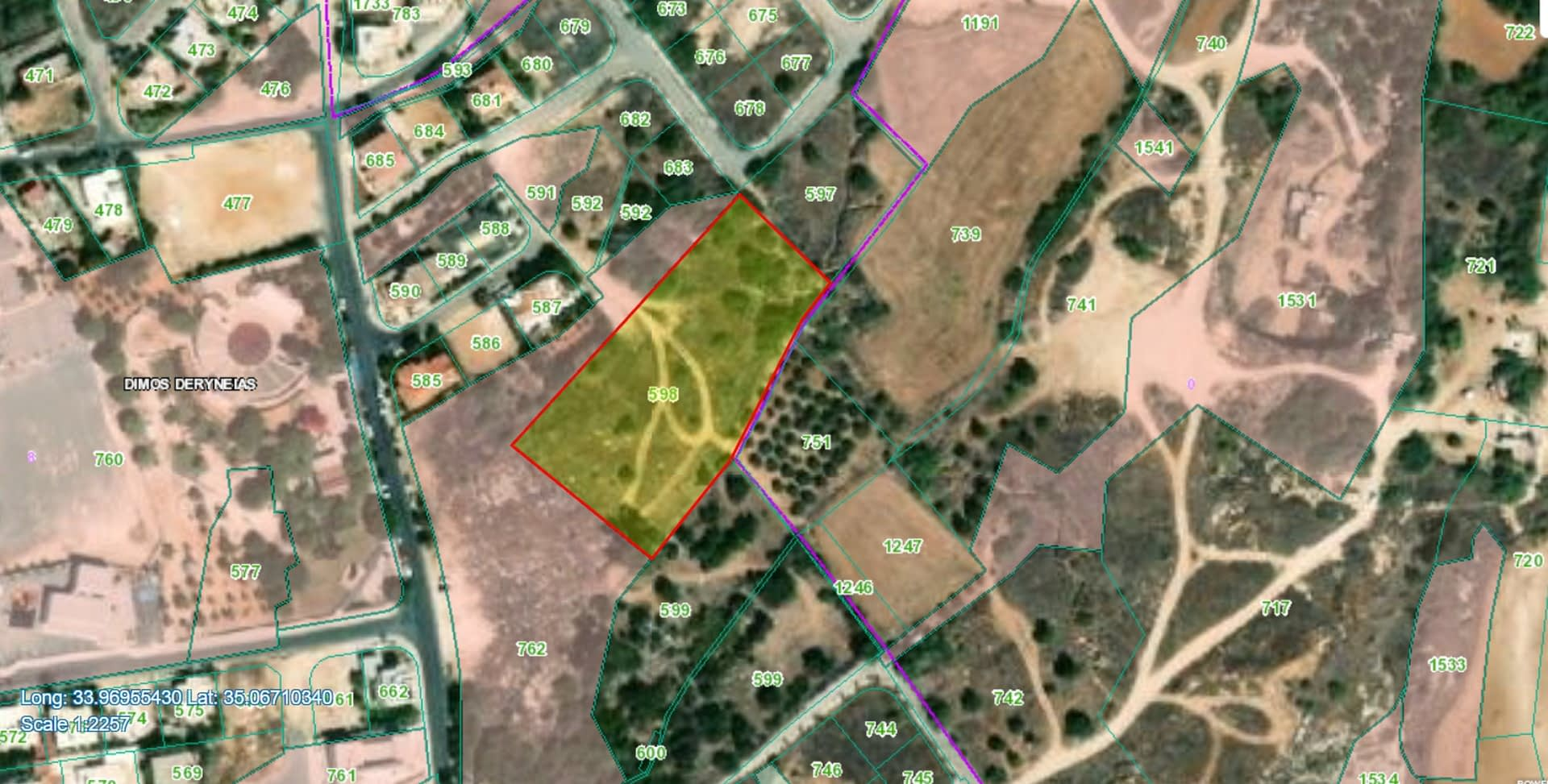 Plot for sale in Deryneia Village