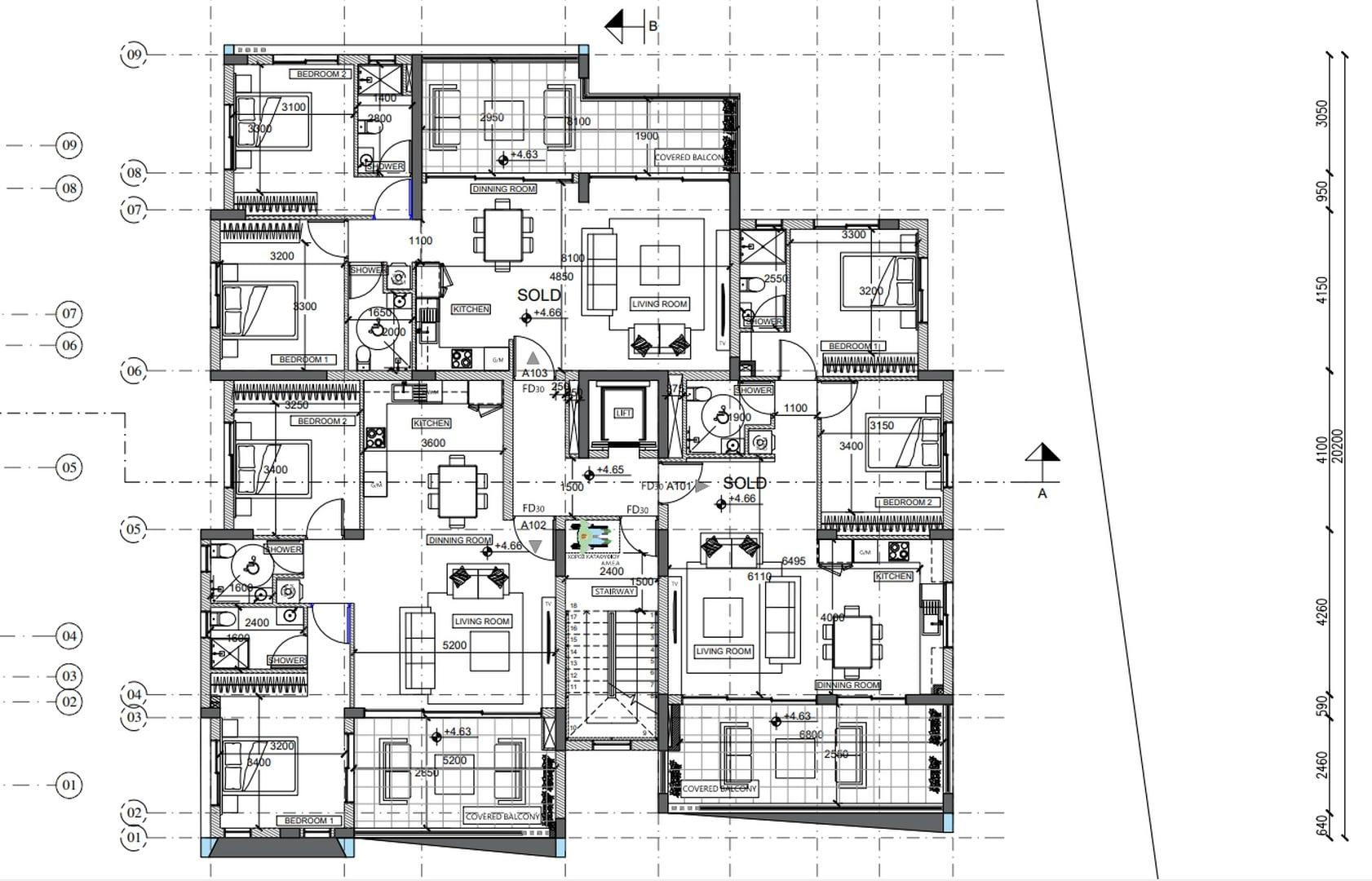 First Floor B No 102