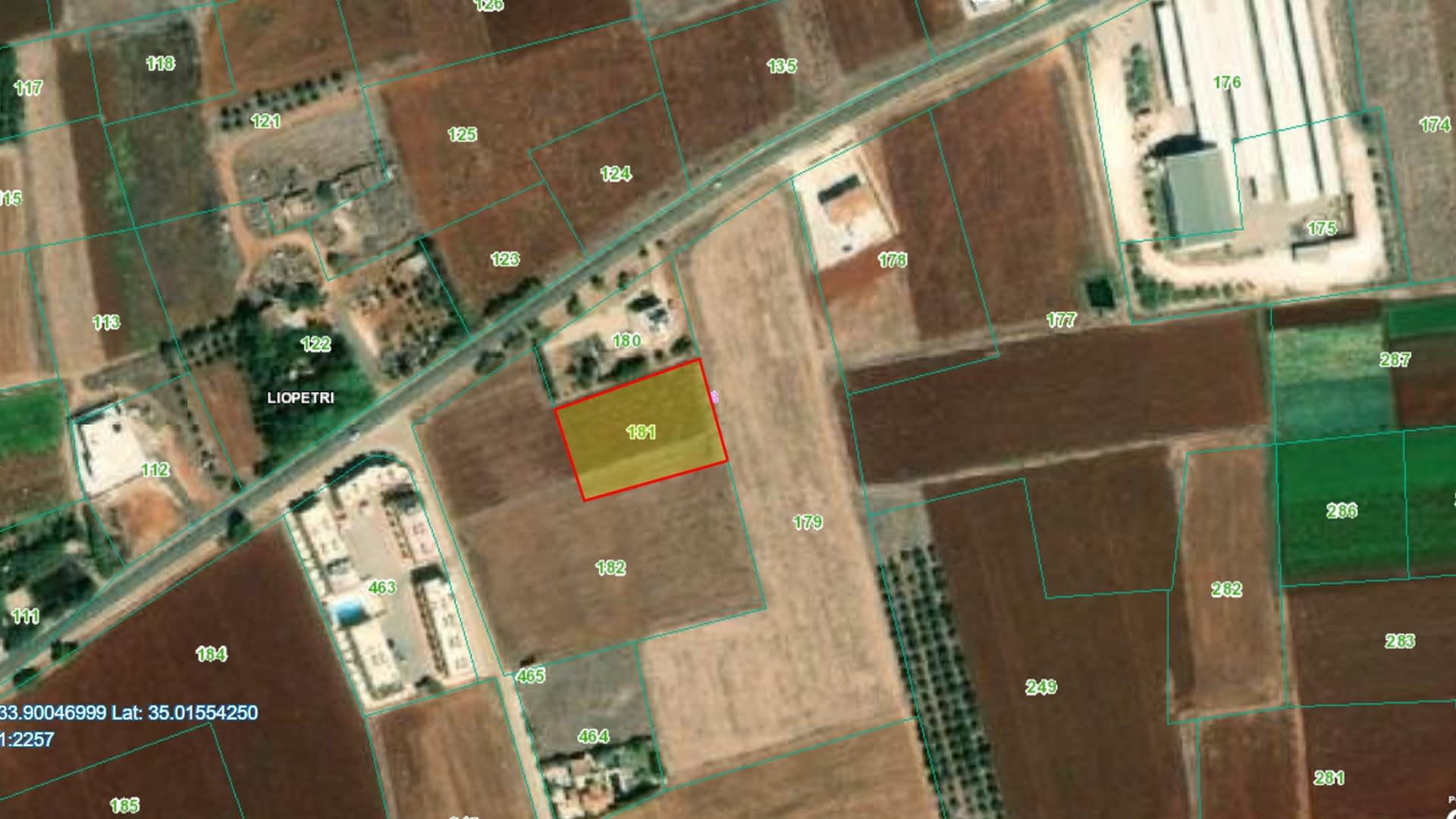 Residential Land for Sale Outskirts of Liopetri Village